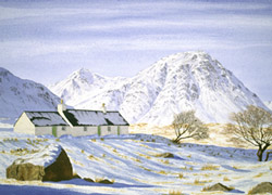 Blackrock Cottage and the Buachaille Etive Mor