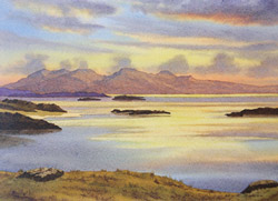The Isle of Rum from Arisaig