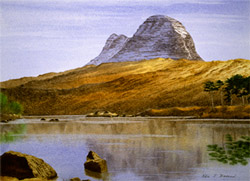 Suilven in Evening Light
