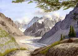Mer de Glace and Grandes Jorasses