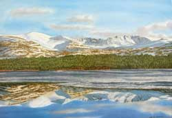Cairngorm and the Northern Corries from Loch Morlich