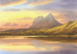 Evening, Suilven from Elphin