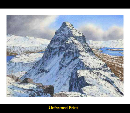 Quot Print And Painting Of Suilven Meall Meadhonaich From